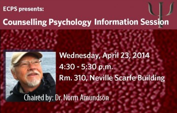 Counselling Psychology Information Session, April 2014
