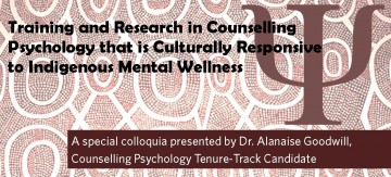Dr. Alanaise Goodwill CNPS Tenure-Track Candidate Colloquia
