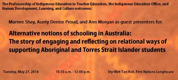 Alternative notions of schooling in Australia:  The story of engaging and reflecting on relational ways of  supporting Aboriginal and Torres Strait Islander students